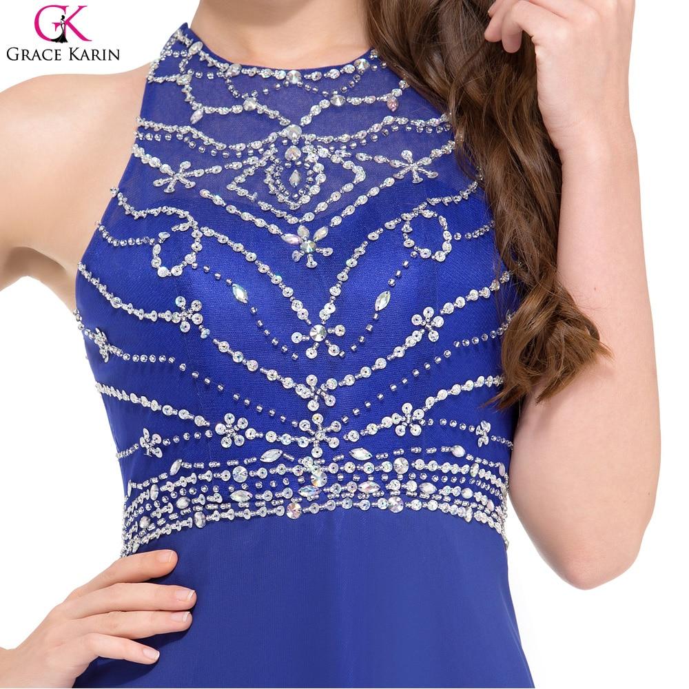 Grace karin gasa sin respaldo piso longitud azul real vestido de ...