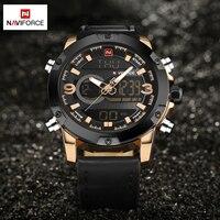 NAVIFORCE Luxury Brand Men Quartz Watch Waterproof Fashion Sports Watches Men Leather Military Watch Clock Man