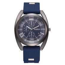 Man Crystal Silicone Sport Analog Quartz Wrist Watch Top Brand Luxury Mens Business Sport Watch Relogio Masculino