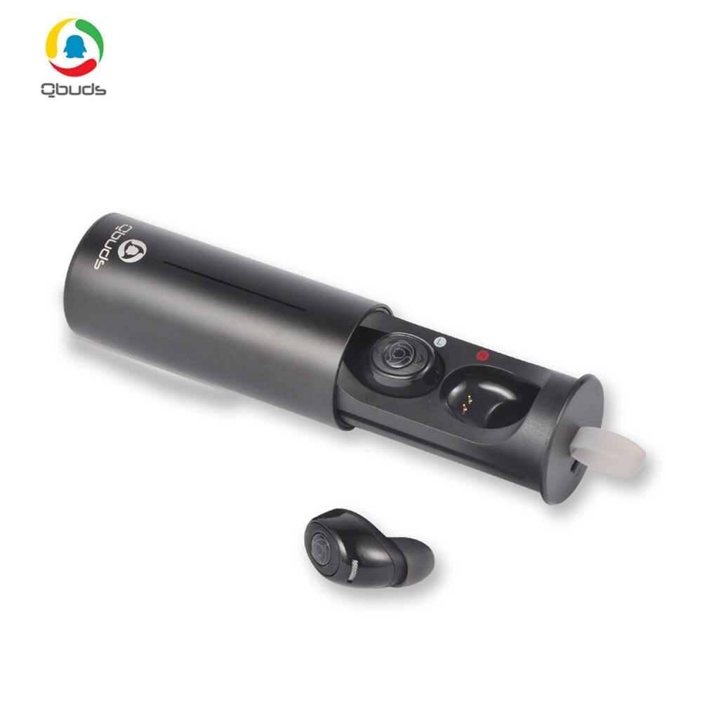 Tencent Bluetooth Écouteurs Écouteurs Sans Fil Mini Écouteurs avec Micro Charge Boîte Écouteur Double Twins Stéréo