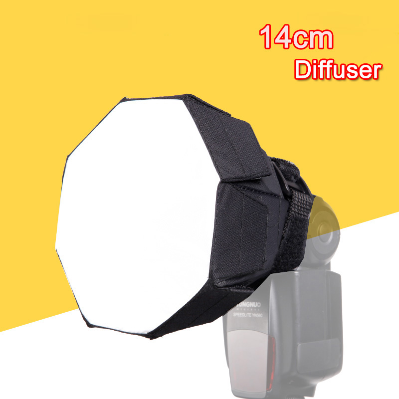 14cm 5.5inch Fordable Flash Speedlite Mini Octagonal Soft Box Softbox Diffuser Portable Light Control Gear for Canon Nikon