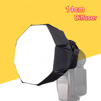 Universale 14 cm octagon flash softbox diffusore per canon nikon sony yongnuo godox metz speedlite