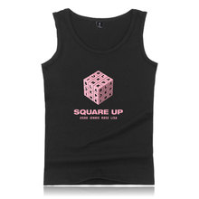 LUCKYFRIDAYF BLACKPINK Fashion Sleeveless Summer Tank Tops Men/Women Casual Fitness Bodybuilding Cool Album Kpop Tank Top Vest цена