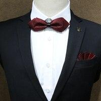 Ücretsiz nakliye yeni erkek erkek kadın elbise şapkaya takım kravat cep havlu set damat düğün hediye kutusu mendil havlu çantası posta