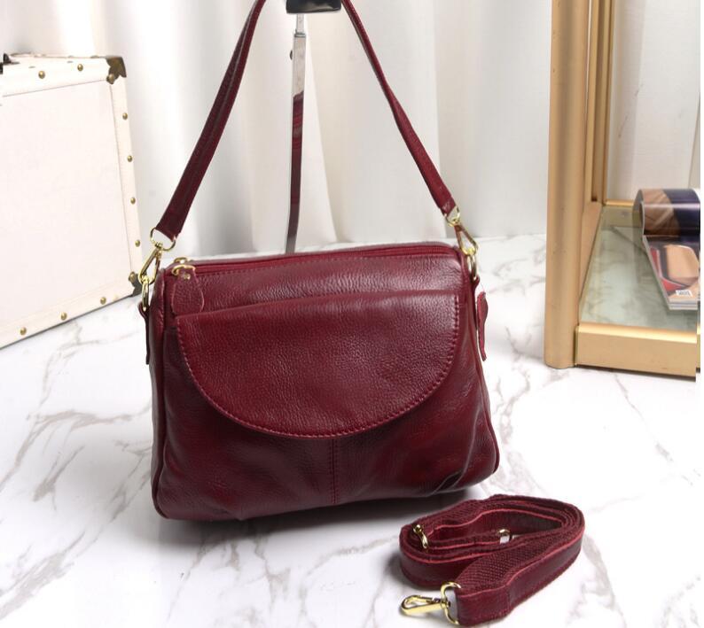 2018 genuine leather women's small flap bag cowhide leather messenger bag fist layer leather handbag конструктор краснокамская игрушка к 02 пираты 40 элементов