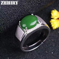 Man Ring Real Jasper Rings Natural Jade Genuine Gem Stone Solid 925 Sterling Silver Men and Women General Jewelry