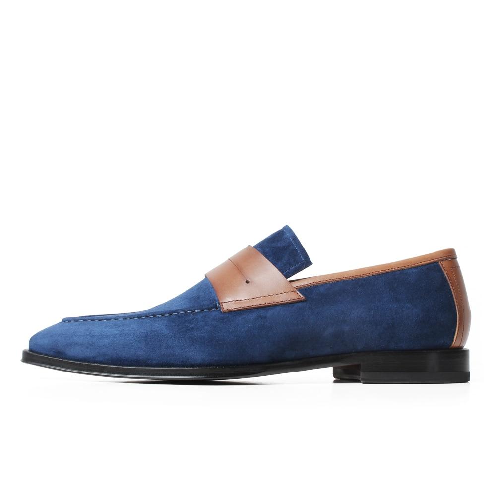 VIKEDUO Elegant Men's Loafer Shoes Genuine Leather Handmade Wedding Footwear Mans Casual Suede Shoes Sllip On Zapato de Hombre - 2