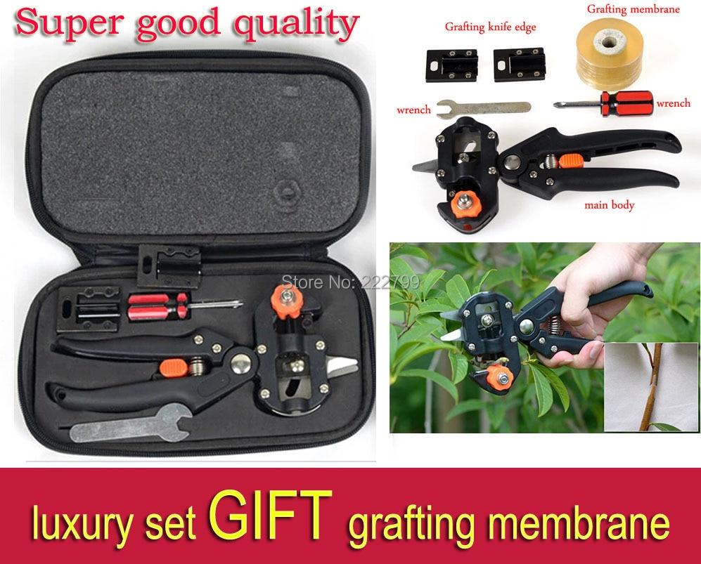 ФОТО Super good quality Garden Fruit Tree Pro Pruning Shears Scissor Grafting cutting Tool + 2 Blade 35 Send grafting membrane