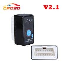 أداة تشخيص السيارات رمز القارئ السوبر ميني ELM327 V2.1 ELM 327 بلوتوث OBD II OBD OBD2 ماسحة مع الطاقة التبديل