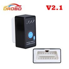 כלי אבחון אוטומטי קוד Reader סופר מיני ELM327 V2.1 ELM 327 Bluetooth OBD II OBD OBD2 סורק עם כוח מתג