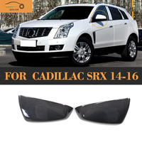 SRX Carbon Fiber Full Replacement Side Rear Back View Mirror Covers Caps For Cadillac SRX 2014
