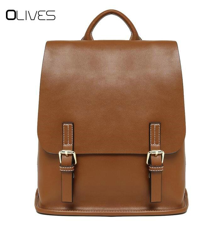 New Fashion Women Backpack High Quality Cowhide Leather Backpacks for  Teenage Girls Female School Shoulder Bag Bagpack mochila 8a398ae6f1