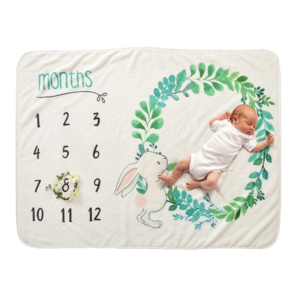 0-12 Monate Baby Milestone Decke Neugeborene Baby Fotografie Decke Milestone Decke Hintergrund Junge Mädchen Swaddle Monat Decke Y