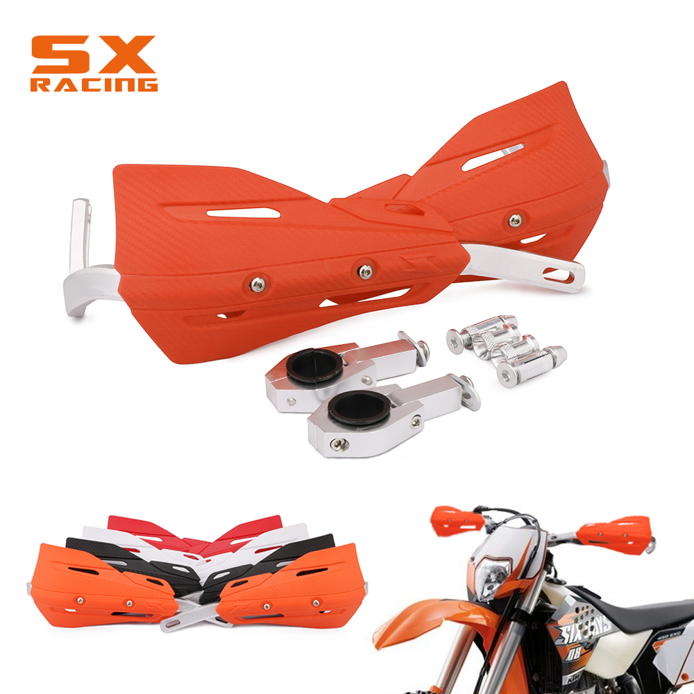 Dirt Bike Motocross Handguards Hand Guards For KTM EXC EXCF XC XCF XCW XCFW MX EGS SX SXF SXS SMR 125 250 300 350 400 450 cnc stunt clutch lever easy pull cable for ktm exc excf xc xcf xcw xcfw mx egs sx sxf sxs smr 525 530 enduro freerider six days