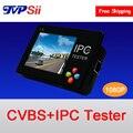 Relógio de pulso da tela de toque tela de 3.5 polegada de largura ângulo dois em um analógico e ip cctv câmera de segurança tester