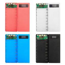 Caja de energía con 3 puertos de entrada y salida USB, luz LED, batería de 8x18650, soporte para teléfono móvil, tableta y PC