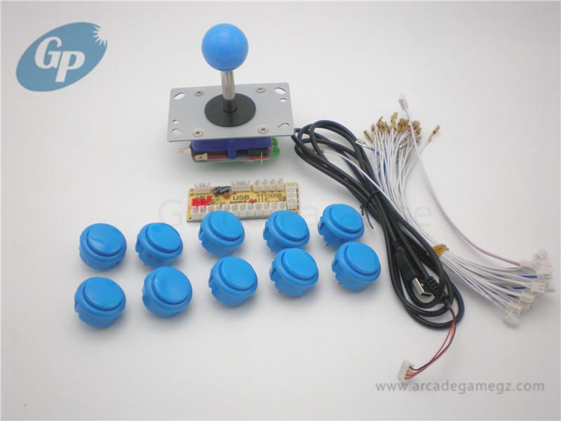 Arcade DIY Accessory kit met USB PC Enocder 10 stks Push Buttons 1 stks zippy Joystick Voor Arcade MAME JAMMA Games