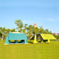 Outdoor camping Two storey two bedroom two room tent Camping rain 6 people 8 people 10 people big tent