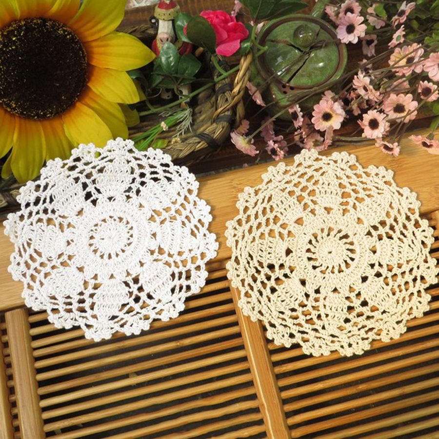 Handmade table mats design - 5pcs Pack Vintage Diy Handmade 15cm Round Table Mat Crochet Coasters Zakka Doilies Cup Pad Props In Tablecloths From Home Garden On Aliexpress Com