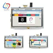 ЖК-модуль 5.0 дюймов Пи TFT 5 дюймов Резистивный Сенсорный Экран 5.0 дюймов ЖК-экран модуль HDMI интерфейс для Raspberry Pi 3 +/B +/2B