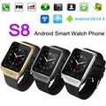 Free DHL 10PC ZGPAX S8 3G Android 4.4 Smart Watch GSM SIM Phone Smartwatch GPS Compass MTK6572 Dual Core 512M 4GB Wifi Bluetooth