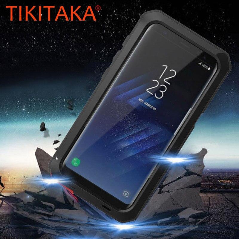 Anti Shock Hybrid Dura Heavy Metal Antiurto Cassa Dell'armatura Per Samsung Galaxy S9 S8 Più Bordo S7 S6 S5 Nota 8 5 Coperchio di Protezione