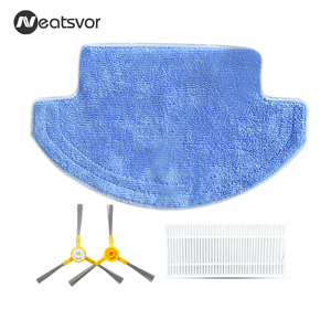 Image 1 - Spare part for Robot Vacuum Cleaner Neatsvor V390,Side Brush*1pair +HEPA *1pc+Mop*1pc