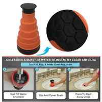 Bomba de drenaje de corriente de aire de alta presión potente limpiador de émbolo de fregadero Manual para baños de baño