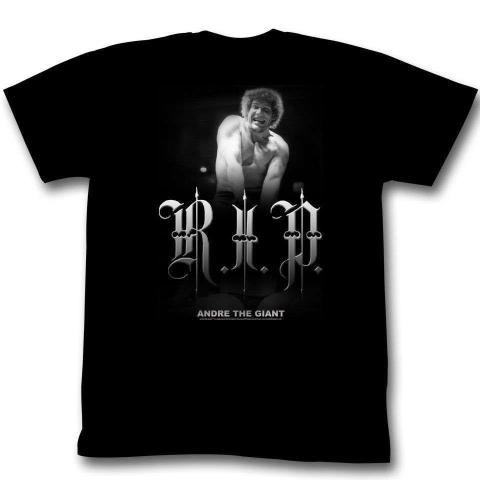 ANDRE THE GIANT R.I.P. BLACK Mens Adult Short Sleeve T-Shirt