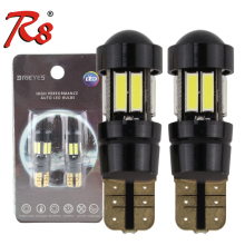 лучшая цена R8 2pcs T10 W5W led strobe flash light 194 168 7020 10SMD LED blink Light Bulb Clearance Lights 12V 2 mode Lamp White with Lens