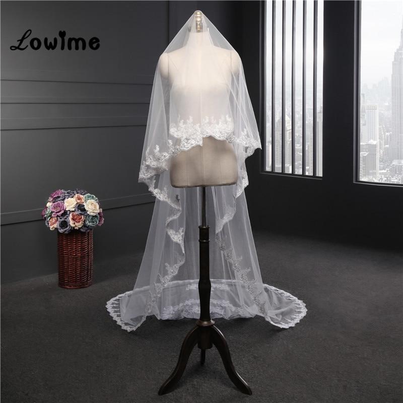 Love Heart Wedding Veil  Meter Long Bridal Veil Veu De Noiva  New Arrival Wedding Accessories White Cheap Velo De Novia In Bridal Veils From Weddings