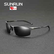 SUNRUN Alumnium Magnesium Polarized Sunglasses Men Brand Designer Mirrored Sun Glasses Fashion Driving Glasses 8581