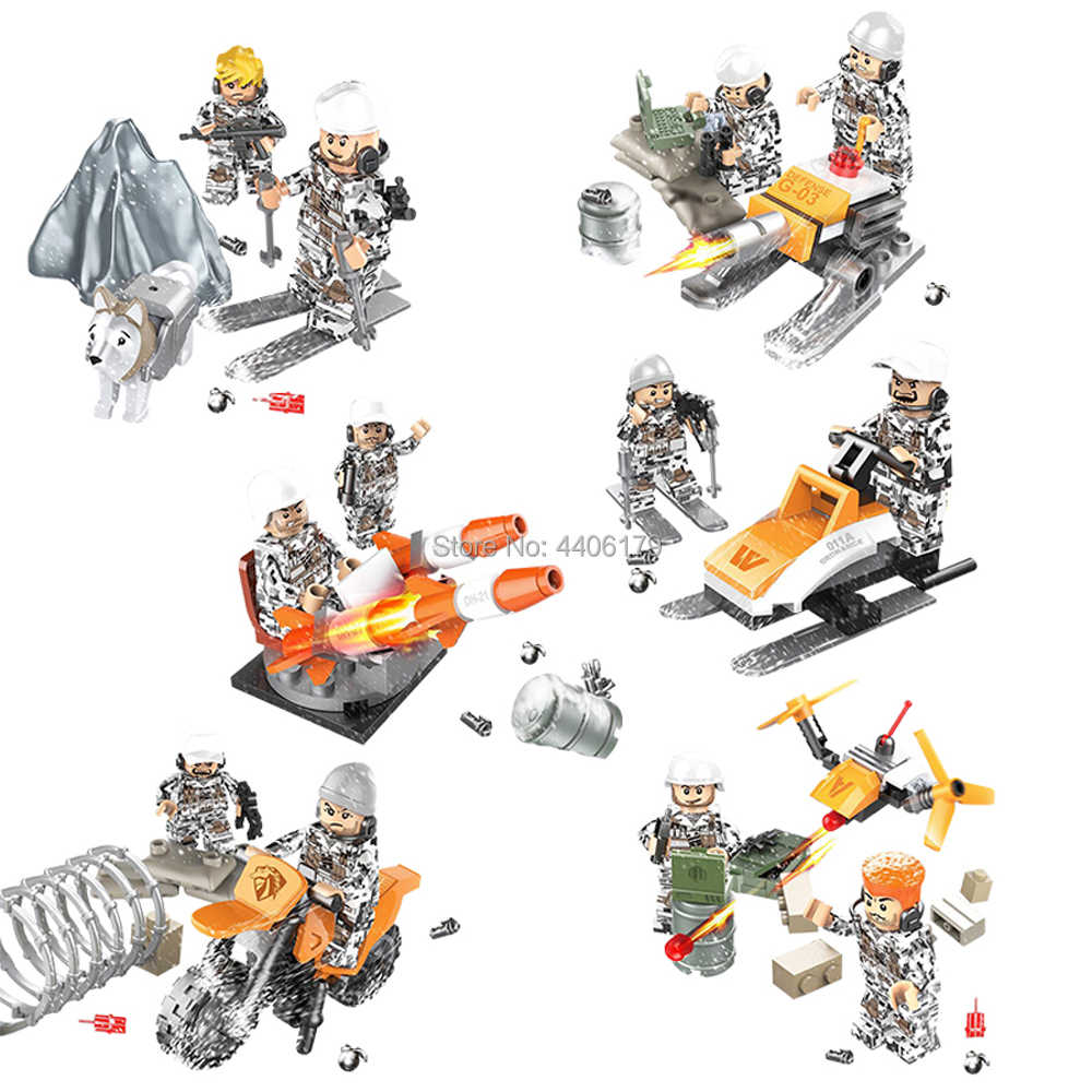 hot LegoINGlys military World War II Soviet Union army winter Counterattack war Building Blocks weapons figures bricks toys gift