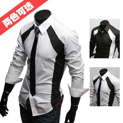 Draping Color Matching Design Brand Best Shirts For Men Designer