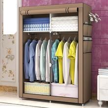 Модный дизайн DIY нетканый антипылезащитный стальной каркас Легкая разборка комбинированный гардероб складной для хранения GY04