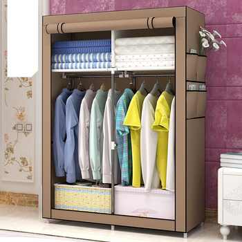 Fashion design DIY Non-woven anti-dust  Reinforced Steel Frame Easy Disassembly Combination Wardrobe Storage Folding GY04