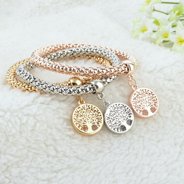 Lovely Austrain Crystal And Eco-friendly Zinc Alloy Charm Bracelets