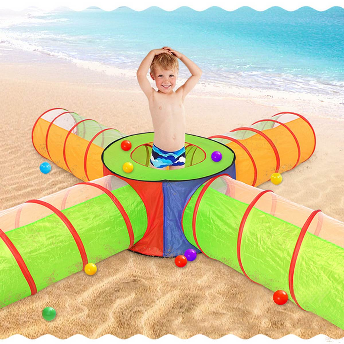 Foldable Children Tent Pool-Tube Pop-up Play Tent Toy Tunnel Kids Play House Ball Pool For Kids Indoor Outdoor Toy