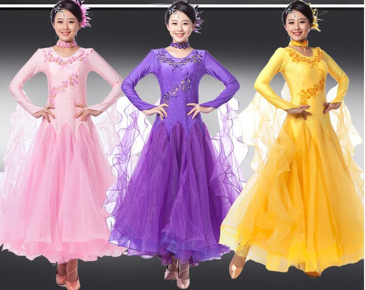 rhinestone balles kleita Vīnes standarta balles zāle plus lieluma balles deju kleitas tango kostīmi