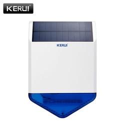 KR-SJ1 de panneau de sirène solaire extérieure sans fil KERUI d'origine pour la sécurité du système d'alarme KERUI avec son de réponse clignotant