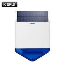 Original KERUI wireless outdoor Solar siren panel KR-SJ1 For KERUI Alarm System security with flashing response sound