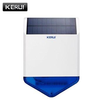 Original KERUI wireless outdoor Solar siren panel KR-SJ1 For Alarm System security with flashing response sound - discount item  18% OFF Security Alarm