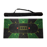 120*60cm Rubber Poker Table Layouts 10 Players Texas Hold'em Poker Table Cloth Poker Mat Tapis