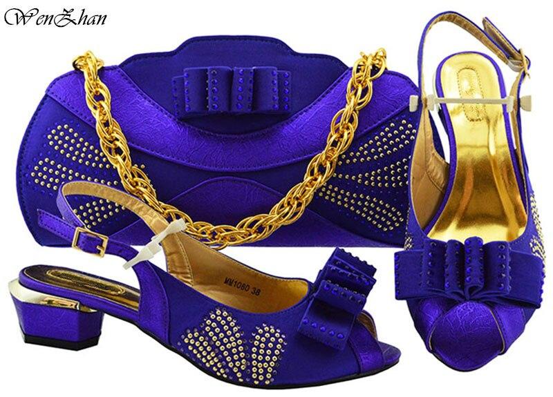 Pour Partie B93 Italie De À Sac Talon Doux Chaussures Africain Cluth D'été Inférieure En Correspondant Ensemble Et Mariage Main Sacs Mis Le 2 ZqqU6cgw01