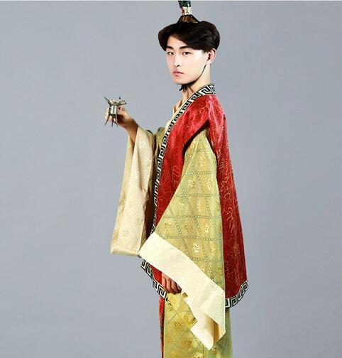 Tang dynasty suit hanfu men cosplay ancient costume photography stage clothes in Chinese Folk Dance from Novelty Special Use