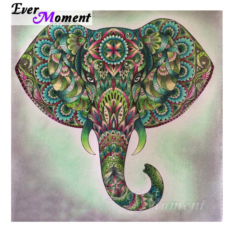 Ever Moment Diamond Painting Colorful Elephant Full Square Drill Picture Mosaic Diamond Embroidery 5D DIY Home Decoration S2F577Ever Moment Diamond Painting Colorful Elephant Full Square Drill Picture Mosaic Diamond Embroidery 5D DIY Home Decoration S2F577