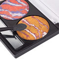 3 Colors Pro Nude Eyeshadow Palette Makeup Matte 3D Glitter EyeShadow With Brush