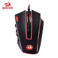 Redragon Gaming Mouse 24000 DPI 24 Buttons Ergonomic Design For Desktop Computer Accessories Programmable Laser Mice Gamer MMO