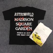 19ss Travis Scott Astroworld Tour Vegas T Shirt Men Women Streetwear Summer TAXI TEE T-shirt Harajuku Cotton ASTROWORLD Tshirt