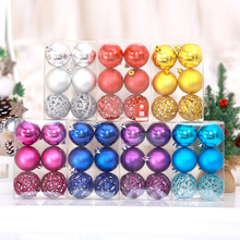【6cm】  Christmas Mall Decoration Plastic Colored Ball Christmas Tree Decoration Hanging Ball Hanging Accessories
